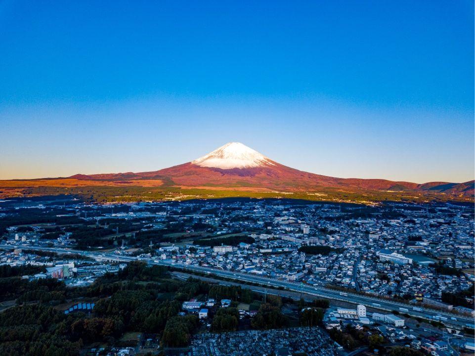 【空撮】御殿場からの富士山
