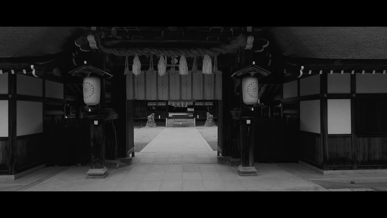 【ワンカット空撮】神社を撮影 Island Japan in 4K HD - 淡路島 Drone